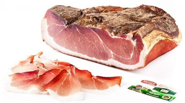 Moser Speck zu 2,4kg, 1,2kg, 450gr - Original Südtiroler g.g.A. vakumiert
